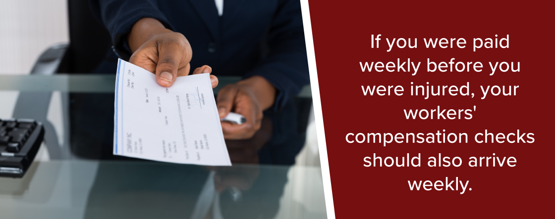 when you should get your workers compensation checks