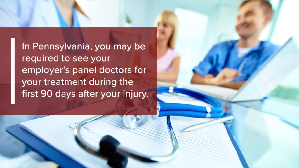 You may be required to visit your employers doctor workers compensation