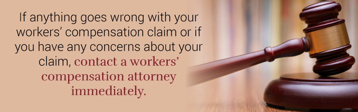 Contact workers comp attorney to help with your case