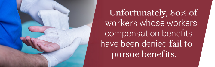 Pursue benefits if workers comp is denied