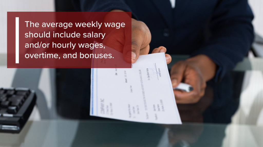 Check Wage When Filing for Workers Comp