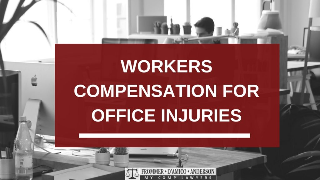 Getting compensation for an office injury