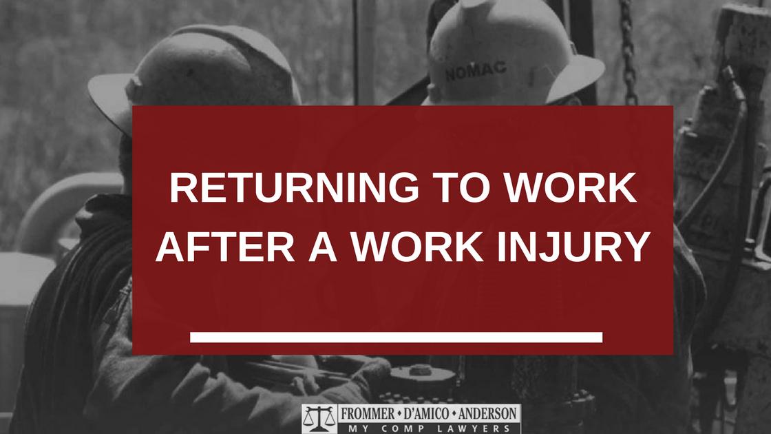 Workersu0027 Compensation Return To Work Restriction